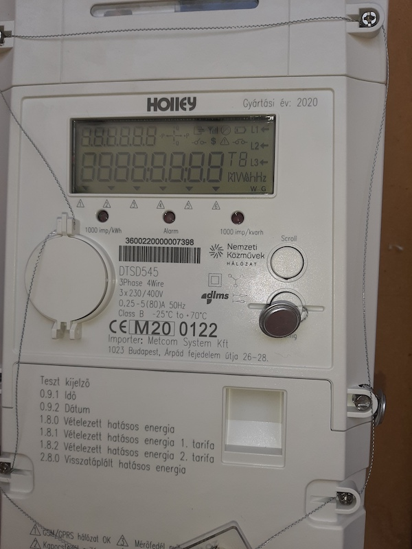kétirányú betáplálást mérő elektromos mérő